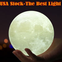 2018 3D USB LED Magical Moon Night Light Moonlight Table Desk Lamp Touch Sensor