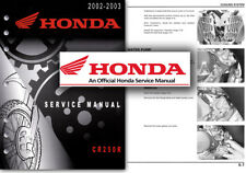 Honda CR250R Service Workshop Repair Shop Manual CR 250 R 2002 2003 CR250