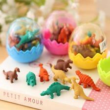 Cute Kids Gift Toy Children Dinosaur Egg Pencil Eraser Stationery Rubber*16pcs