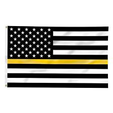Thin Yellow Line Flag 3x5 Tow Truck Driver Operator Flatbed Rollback Wrecker
