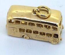 9k Double decker BUS Charm Pendant 375 yellow gold