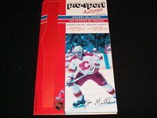 1986-87 Pro-Sport Autograph Card °CALGARY FLAMES #7, JOE MULLEN  <>