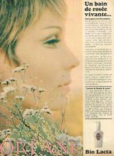 C- Publicité Advertising 1967 Cosmétique Lotion crème Bio Lacta Orlane