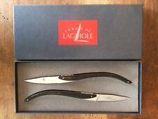Forge de Laguiole - 2 Original Tafelmesser - C & B LEFEBVRE für ANNE-SOPHIE PIC