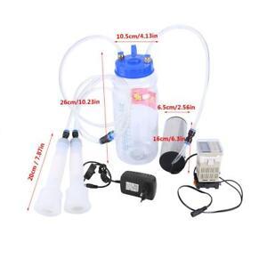 Tragbare Elektrische Melkmaschine Melkeimer Melken Kühe Satz mit 2-l-Flasche DE