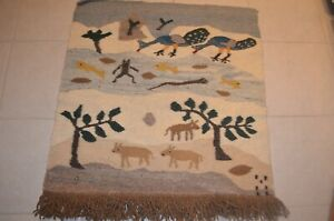 There Is A Big Snake In River The Lebowa South Africa woven tapestry tribal art