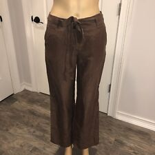 Talbots waist tie silk pants size 2p