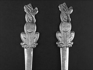 Pluto Child Fork + Spoon Set Walt Disney Production Stainless by Bonny