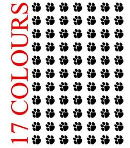 77 x Paw Print Dog Cat Decal Vinyl Stickers 1cm x 1cm Car Wall Glass Craft Art