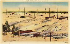 Stone Industry: Granite Quarry, NC Granite Corp, Mount Airy, NC. 1940s Linen.