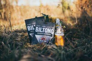 Billies & Tong Garlic Flavour Biltong Low Carbs High Protein British Beef Gift