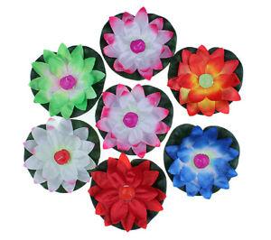 10pcs Lotus Flower Wishing Lamp Floating Lamp Candle Light Wedding Lantern Peach