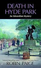 Death in Hyde Park (Robin Paige Victorian Mysteries-ExLibrary