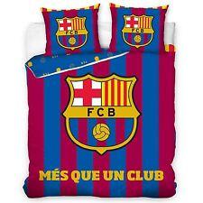 FC BARCELONA MÉS QUE UN CLUB DOUBLE DUVET COVER SET FOOTBALL COTTON BEDDING NEW