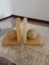 Onyx / Jade (?) Book Ends Antique