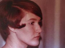 VINTAGE AMERICAN REDHEAD BEAUTY TEEN GIRL ARTISTIC PROFILE POSE 60s HAIRDO PHOTO