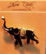 Kirks Folly crystal black  Star Elephant Pin brooch free ship