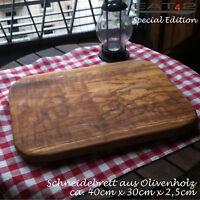 Servierbrett Servierplatte Schneidebrett Tranchierbrett Olivenholz Holz 60cm