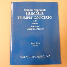 mini pocket score J N HUMMEL trumpet concerto S. 49 (1803), ed. Clark McAlister