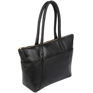 Over 75% Off Black Leather Handbag, Leather Tote