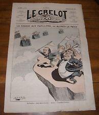 Le Grelot Journal Satirique N°103 La Chasse aux Papillons Par Alfred le Petit