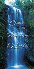 """Create in Me a Clean Heart""  Worship Canvas Banners, 6 Foot"