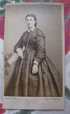 Photographie ancienne 1900 Femme élégante costume Photographe Jamin Paris mode