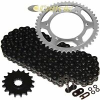 Black O-Ring Drive Chain & Sprockets Kit for Yamaha FZR1000 FZR1000R 1989-1995