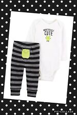 Just One You Carter's Baby Boys' Pants Bodysuit 'Monstrously Cute' 6 Months NWT