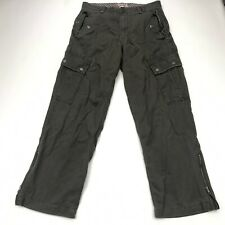 Old Navy Cargo Pants Mens 32x32 Olive Green  Straight Fit