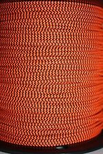 3' BCY Flo Orange & Black Speckled D Loop Material Bow String Bowstring Archery