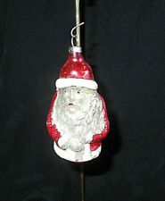 "Ant. German Mercury Glass Santa Claus Christmas Ornament~3 1/4"" H"