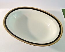 "Richard Ginori Palermo-Black 10"" Oval Vegetable Bowl"