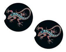 Patterned Lizard Rubber Car Coaster For Drinks Absorbent Car Cup Holder SET OF 2