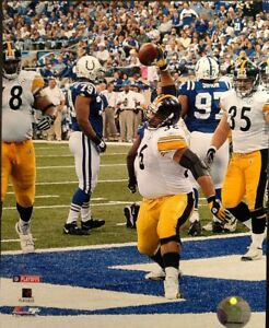 JEROME BETTIS  Touchdown 2005 PLAYOFF GAME 8X10 PHOTO Pittsburgh Steelers