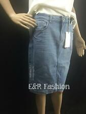 ZARA DENIM PENCIL SKIRT WITH RIPPED DETAIL SIZE SMALL (B6) REF: 6394 153