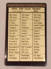 Wersi Memory Card ROM 1 Sound Standard für CD Orgeln