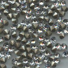 1188 SS39 C *** 6 Strass Swarovski  fond ET DESSUS!! coniques 8,3mm CRYSTAL F