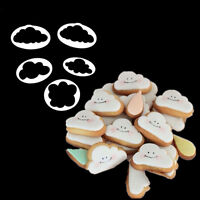 5Pcs 3D Cloud Cake Cookie Buscuit Cutter Mold Fondant Mold Decorated Sugarcraft