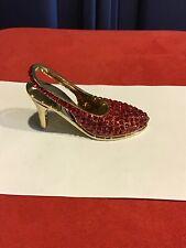 New In Box.  Swarovski Crystal Red Stone/yellowgoldtone Shoe.  STUNNING