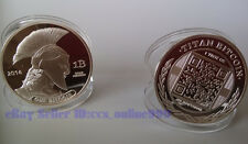 Nice 2014 Titans Bitcoin Collectible Physical Coin 1 Troy Oz Silver Plated 1Pcs