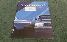 1984 VOLVO 240 244 SALOON DL GL GLE GLT UK BROCHURE Riverside Doncaster Sticker