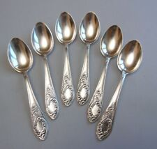Set of 6 Antique Soviet Russian 875 Sterling Silver*