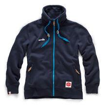 Scruffs Vintage Zip Thru Fleece Navy Jacket with Concealed Hood (Sizes S-XXL)
