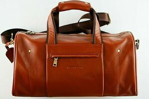 TAN GENUINE LEATHER GYM OVERNIGHT TRAVEL BAG  HIGH LEVEL OF STOCK 80% OFF