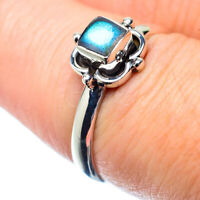 Labradorite 925 Sterling Silver Ring Size 7.5 Ana Co Jewelry R26982F