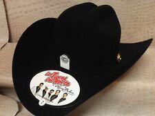 New Mens Larry Mahans Tigres Del Norte Black 5X Beaver Felt Western Cowboy Hat