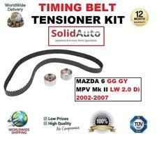 FOR MAZDA 6 GG GY MPV Mk II LW 2.0 Di 2002-2007 TIMING BELT TENSIONER KIT
