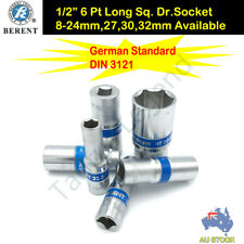 "1/2"" Drive German Standard Metric Deep Socket CRV Dr. Socket All Size Available"