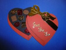 ROMANTIC RED HEART CHOCOLATE BOX DIE CUTS